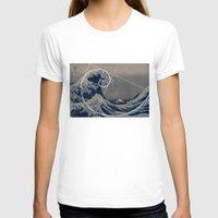fibonacci T-shirts featuring Hokusai Meets Fibonacci by Vi Sion
