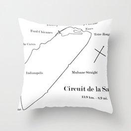 RennSport Shrine Series: la Sarthe Edition Throw Pillow