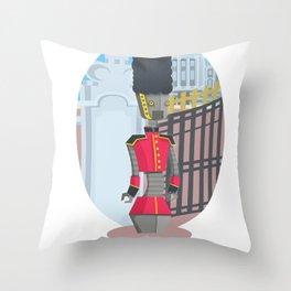 Queen's Beep Boop Guard Throw Pillow