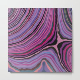Mineralicious~Pink Agate Metal Print
