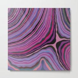 Mineralicious~Pink Agate Metal Print