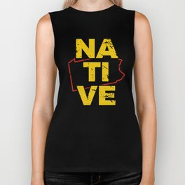 PN Native Gift for Home State Pride Residents from Pennysylvania,Philadelphia, Pittsburgh Biker Tank