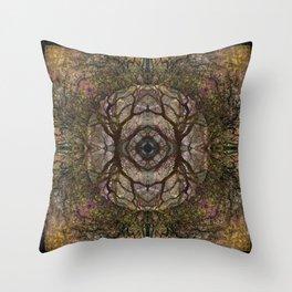 Mandala Primordia Throw Pillow