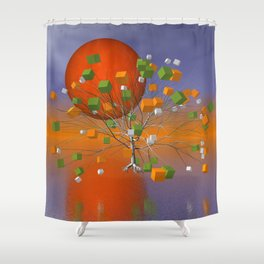 fancy tree and full moon -1- Shower Curtain