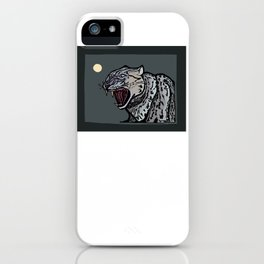 Snow Leopard Growling iPhone Case