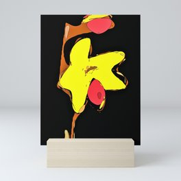 Thelantenifera Orchid Abstract Rounded Mini Art Print