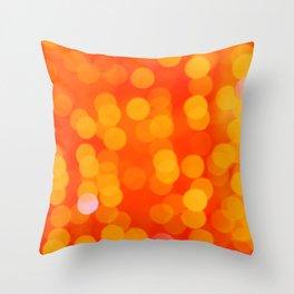 Orange Disco Fever Throw Pillow