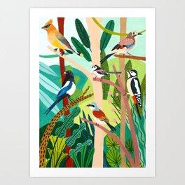 Jungle Birds  Art Print