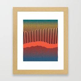 Unfolds Mountain Framed Art Print