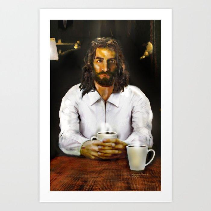 Coffee With Jesus Kunstdrucke