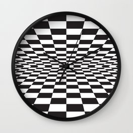 Black and white back and forth - Optical game 15 Wall Clock