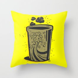 Surf Up Coffee Throw Pillow