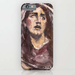Mary Magdalene at the Foot of the Cross iPhone Case