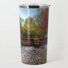 Fall Foliage Along River Travel Mug