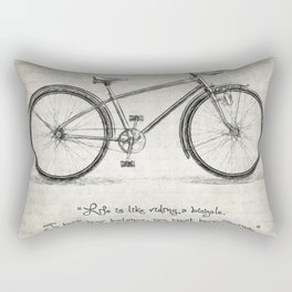 Albert Einstein Bicycle Quote Rectangular Pillow