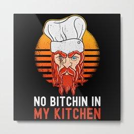 Chef Food Kitchen Pun Metal Print