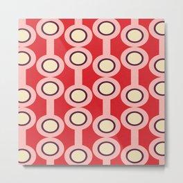 dumbbells Red-Pink #midcenturymodern Metal Print