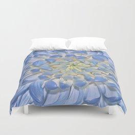 Blue Chrysathemum Duvet Cover