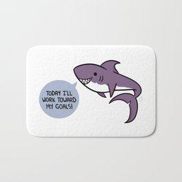 Purple shark. Bath Mat