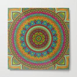 Hippie mandala 53 Metal Print