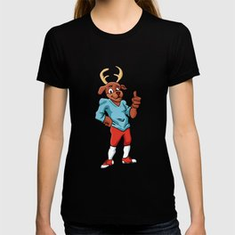 sport deer cartoon T-shirt