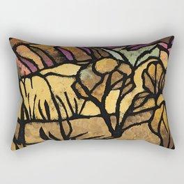 """""""A Mile Out of Alice Spings"""" Margaret Preston Rectangular Pillow"""