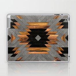 Urban Tribal Pattern 6 - Aztec - Concrete and Wood Laptop & iPad Skin