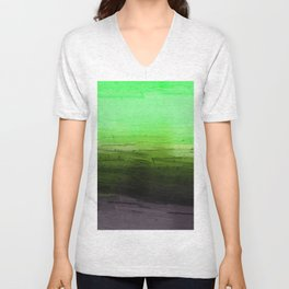 Summer Green Lake Abstract Painting Unisex V-Neck