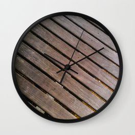 Wood Lines on the ground Wall Clock