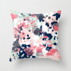 Lola - Painted abstract trendy color palette minimal decor nursery home Throw Pillow