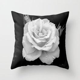 Johann Strauss Rose-BW Throw Pillow