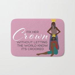 Fix Her Crown Bath Mat