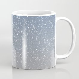 Winter Snowy Background fill with snow and snowflakes. Winter, Merry Christmas collection Coffee Mug