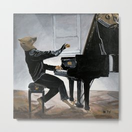 Hyena Piano Music Player Fantasy Art Metal Print