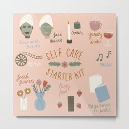 Self Care Starter Kit Metal Print
