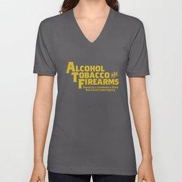 Guns Ammo Alcohol Tobacco Firearms Funny 2Nd Amendment Gun T-Shirts Unisex V-Neck
