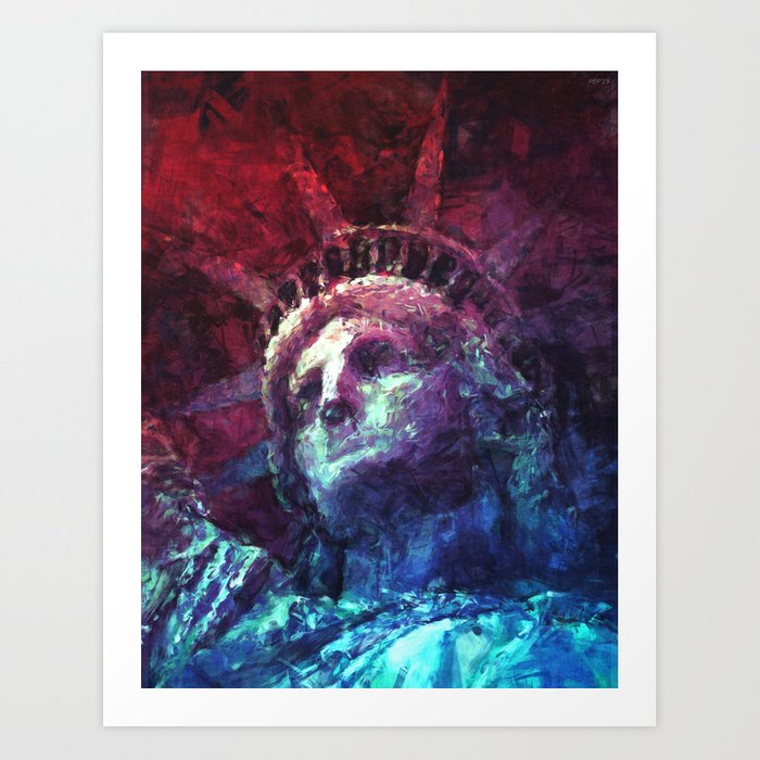 Patriotic Liberty Art Print