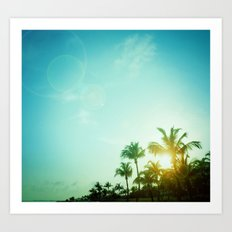 Key West Tropical Sunset Art Print