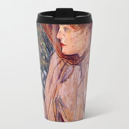 Woman with Gloves Travel Mug