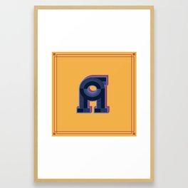 Alphabet Drop Caps Series- A Framed Art Print