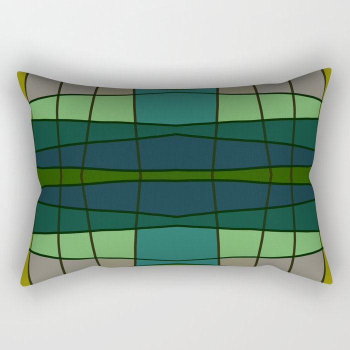 Green Pattern Turtle Rectangular Pillow