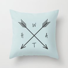 WHAT Compass? Throw Pillow