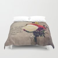 jane austen Duvet Covers featuring Jane Austen Daughter Emma by KimberosePhotography