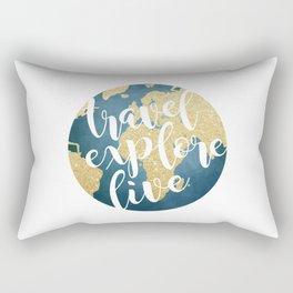 Travel, Explore, Live Rectangular Pillow
