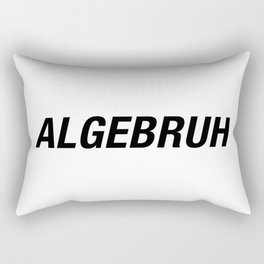 Funny Algebra - Algebruh - Math Joke Rectangular Pillow
