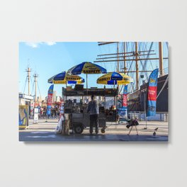 Hot Dogs in South Street Seaport Metal Print