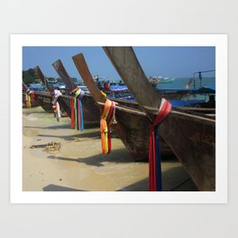 Colours on Shore Art Print