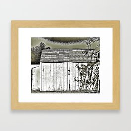 WHAT'S IN THE SHED! Framed Art Print