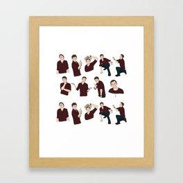 The Faces of Tom Framed Art Print