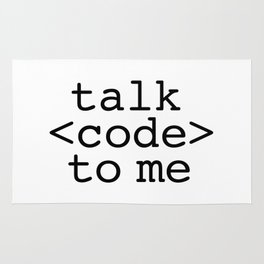 talk code to me Rug